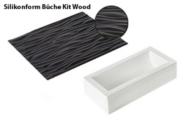 Silikonform Bûche Kit Wood